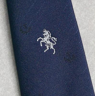 Affidabile Vintage Cravatta Da Uomo Cravatta Club Associazione Dancing Horse & Cardo Scozzese-mostra Il Titolo Originale Prezzo Moderato