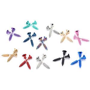 2X-Jewelry-Punk-Style-Women-039-s-Men-039-s-316L-Stianless-Steel-Screw-Stud-Earrings-HUC