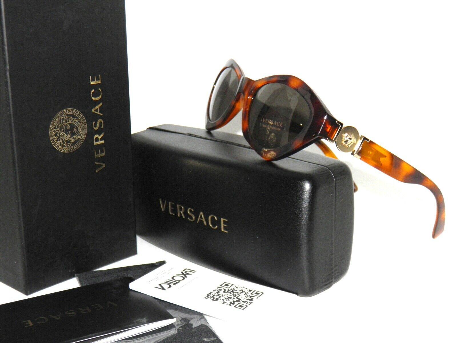 a69e9315ef9 Versace Sunglasses Women Ve 4334 Brown 511971 Ve4334 54mm for sale online
