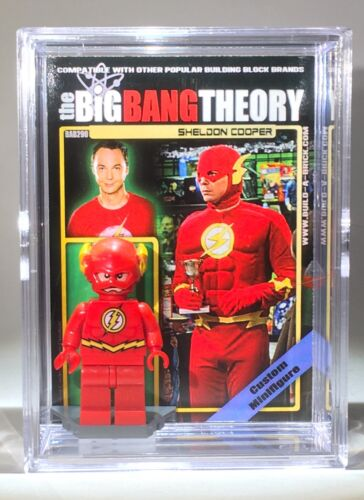 Big Bang Theory Sheldon Mini Action Figure w Display Case 296 Mini-Fig Toy Xmas