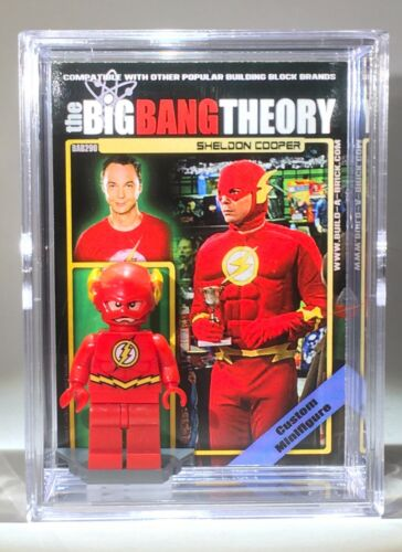 Big Bang Theory Sheldon Mini Action Figure w Display Case 296 Mini-Fig Toy Xmas