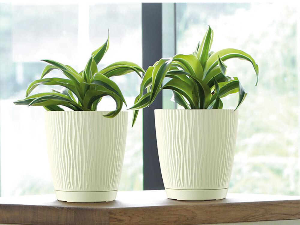 Set of 4 Round Pot High Quality Modern Garden Flower Pot Patio Planter Round 13