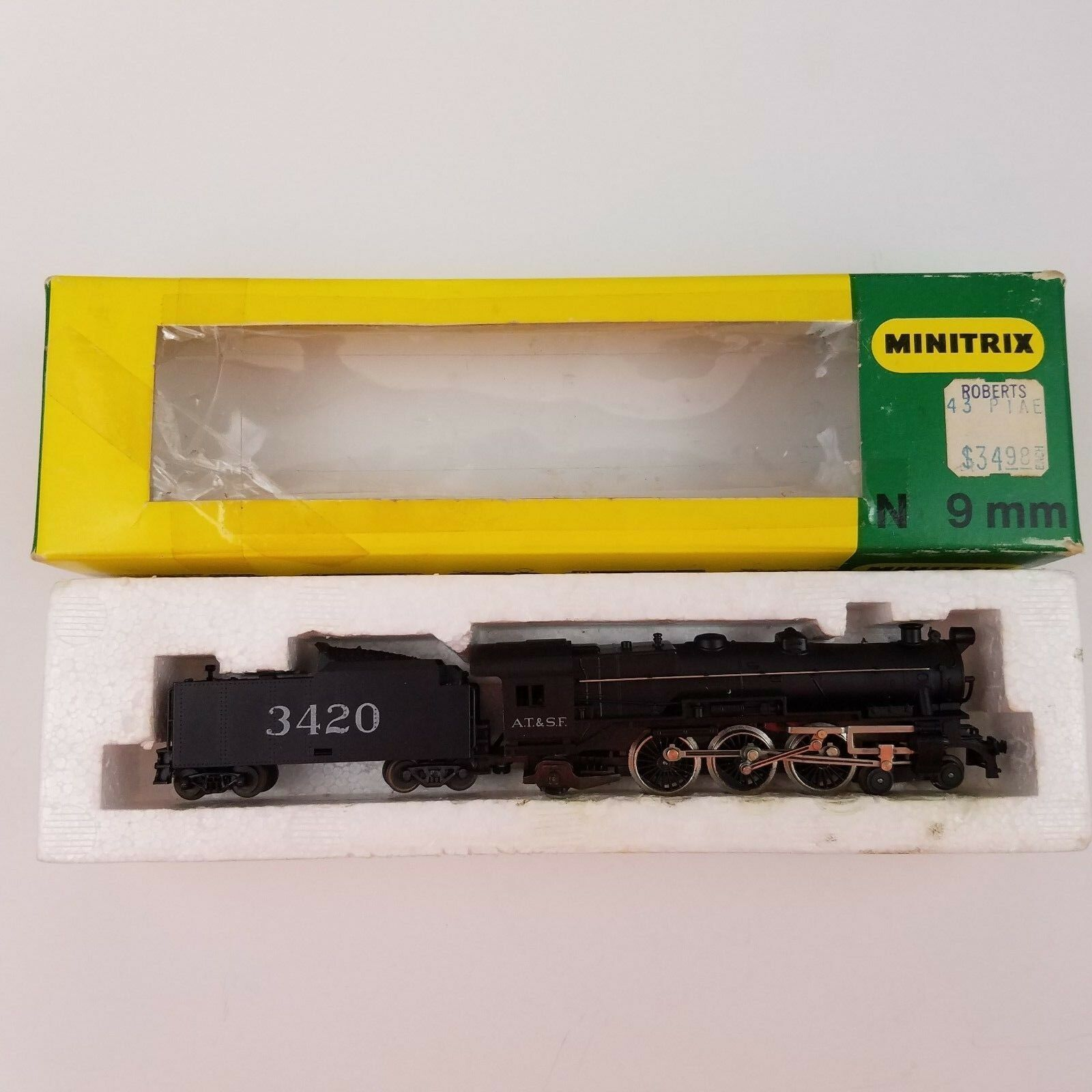 MINITRIX N Scale 4-6-2 Steam Locomotive Engine and Tender AT&SF 3420  51 2990 00