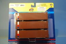 "Athearn 29166 3 x 40' Highcube Container ""TRANSAMERICA ICS"" *ORIGINAL / herpa*"