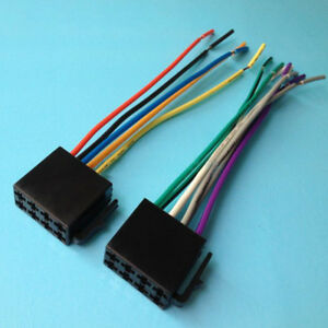 Details about Universal Car Stereo ISO Wire Harness Adapter Wiring on 4 pin wire connector plugs, waterproof connector plugs, waterproof 12 volt quick disconnect plugs, wiring a plug, trailer wiring harness plugs, control box connector plugs, generator connector plugs,