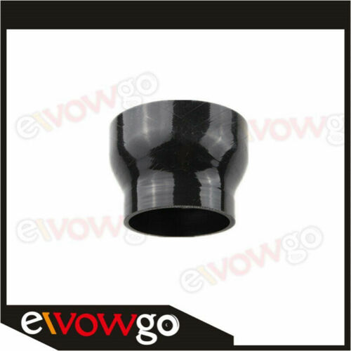 """4/"""" To 2.5/'/' inch Straight Reducer Silicone Coupler 3 Ply Hose Pipe Black"""