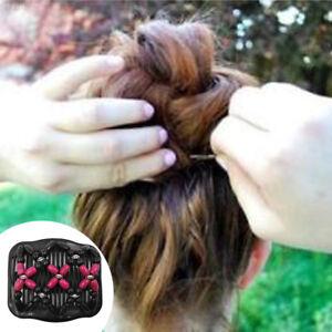 Women-Hair-Clip-Wooden-Beads-Stretch-Double-Slide-Magic-Comb-Hairpin-Headwear