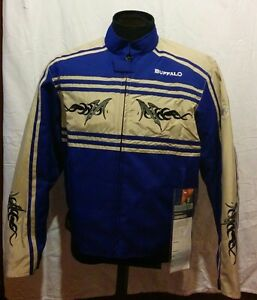 Details About Buffalo Sunny Motorcycle Jacket New Blue Cream M Sale
