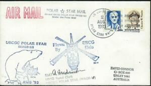 USA (1993) 'POLAR STAR MAIL' Helicopter Flown + SIGNED BY COASTGUARD PM  [A0603]