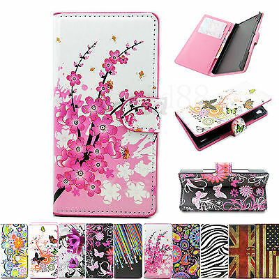 Leather Flip Wallet Stand Phone Skin Cover Case For Huawei Ascend Y530 G510 P7