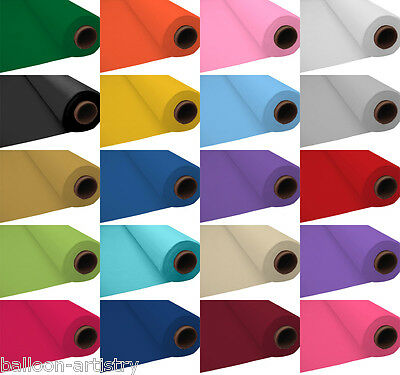 """40"""" x 100ft Plastic Tablecover Table Cloth Banqueting Roll Event Party Wedding"""