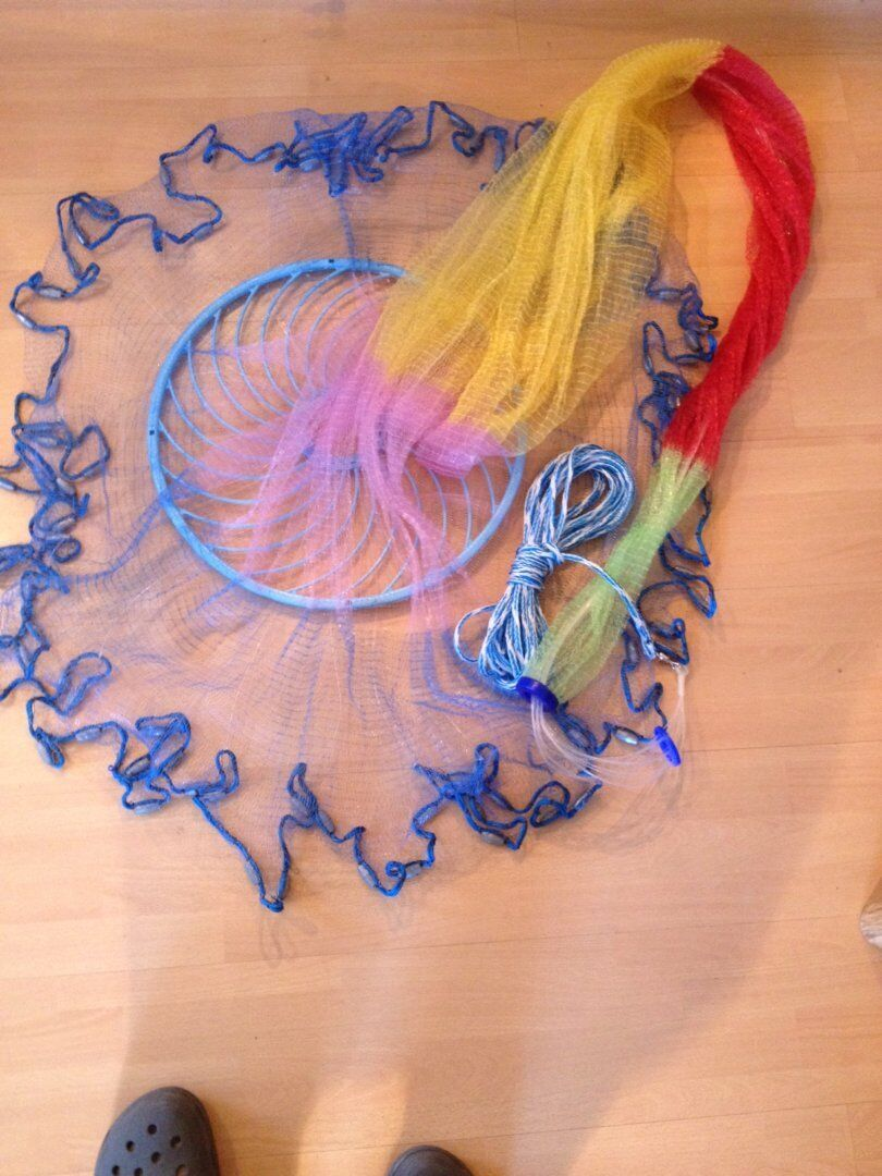 Nr.39,Angelnetz,Cast Net,Neustes Wurfnetz Model mit 4,88m,Fischnetz,Monofilament