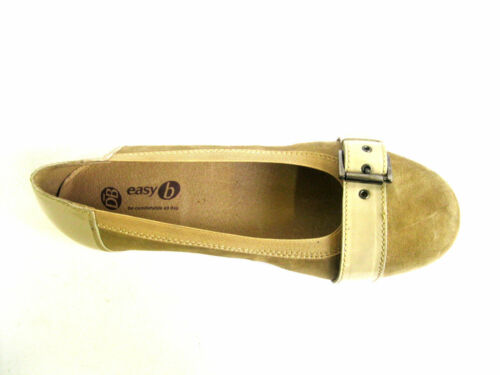 SABINA 78335H LADIES EASY B NUDE SUEDE DOLLY SHOES