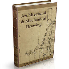 Architectural & Mechanical Drawing 137 Old Books on DVD Technical Design Art