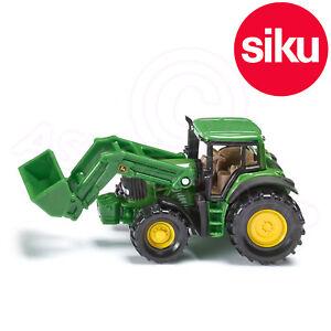 Siku-No-1341-John-Deere-tractor-con-delantera-Cargadora-amp-Extraible-cab