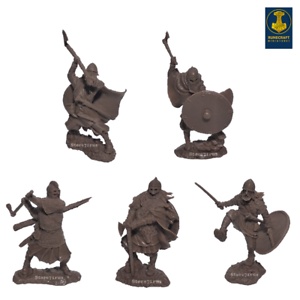 Runecraft miniatures Toy Soldier Vikings 9th-11th siècles échelle 1/32 Set #4