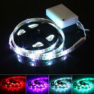150cm 4 5v battery operated rgb led strip light waterproof for Led craft lights battery