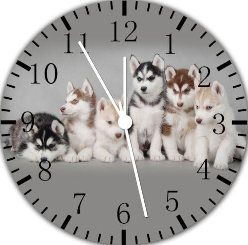 Husky Sibérien Frameless sans Bordures Horloge Murale Nice pour Cadeaux ou Décor