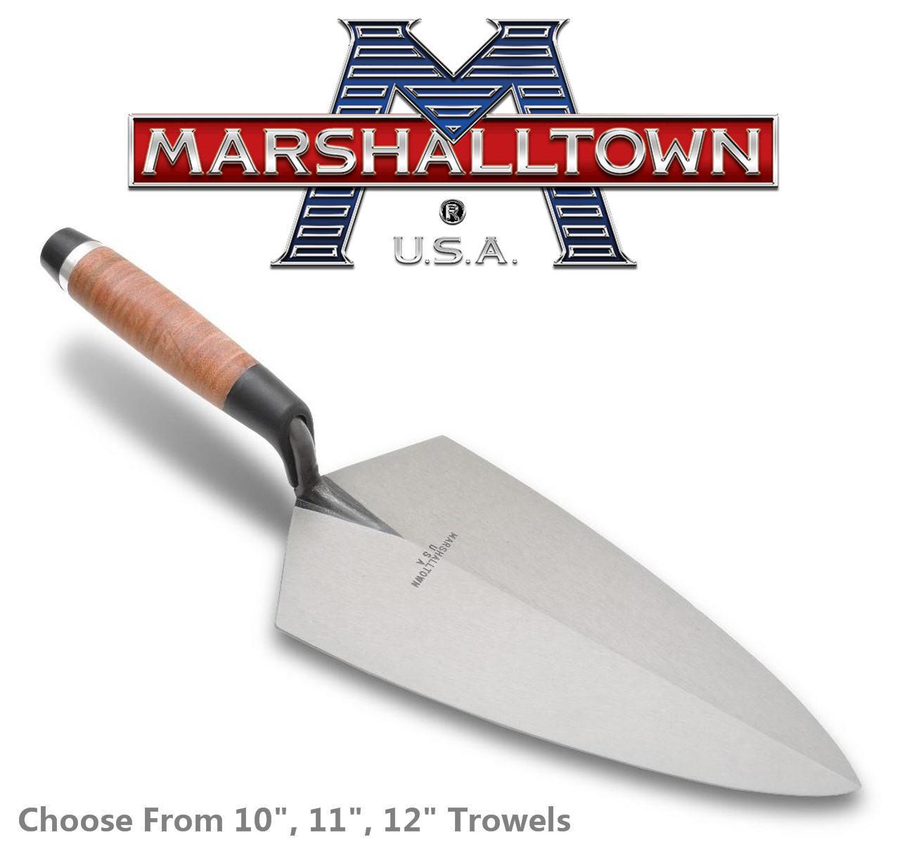 Marshalltown Cuero Empuñadura Filadelfia Paleta de ladrillo, tamaño a elegir