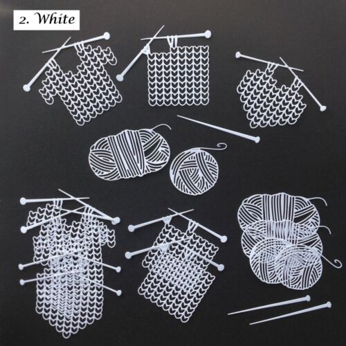 Card Toppers//Making Assorted Sets of 18 pcs Knitting Die Cuts Large Wool