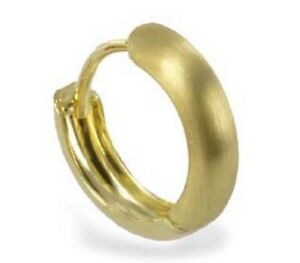 ECHT GOLD *** Kleine bicolor Creolen Ohrringe 12 mm Ø