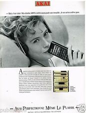 Publicité Advertising 1989 La Chaine Hi-Fi Akai
