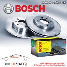 Kit 2 Bosch Bremsscheiben Voll 255mm und Beläge Hinten Audi A3 Skoda Seat VW