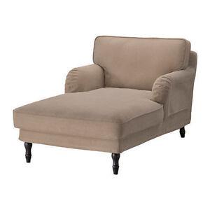Ikea stocksund chaise longue cover vellinge light brown - Ikea divano chaise longue ...