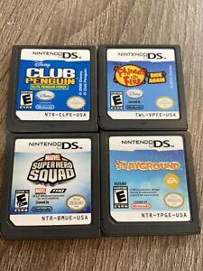 Nintendo-DS-2ds-3ds-Disney-Game-Lot-Marvel-Super-Hero-Ferb-Penguin-Playground