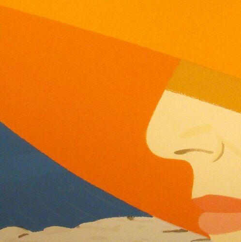 "ALEX KATZ x H/&M /'Orange Hat Ada /' 1990//2016 Silk-Blend Art Scarf 51/"" x 51/"" NWT!"