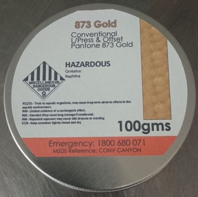 PMS 873 Gold 100 grams Letterpress Metallic Ink *Any Colour Available*