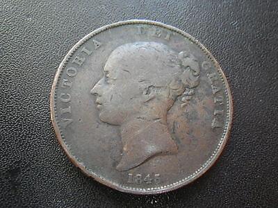 .. Victoria 1845 Penny (aFine)