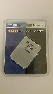 NEW Hyperkin  Memory card for the Sony Playstation 1  System Console 15 Blcok