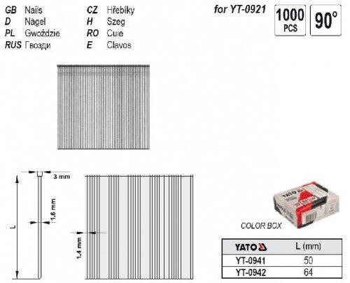 Nägel Streifennägel 90° für Druckluftnagler 50 x 1,8 mm 1000 St