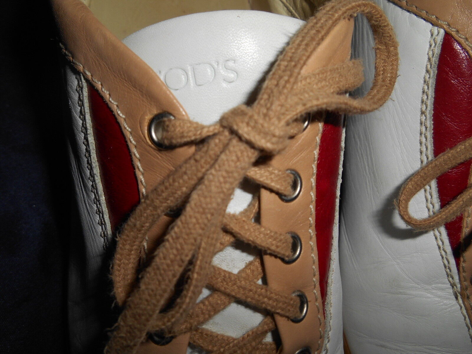 TOD'S CASUAL  SNEAKER BOWLING DRIVING Schuhe SIZE 7 B  CASUAL NICE FROM ITALY. 234780