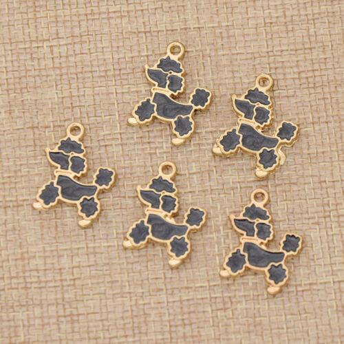 Unicorn Cartoon Enamel Metal Conch Charm Pendants DIY Jewelry Making Accessories