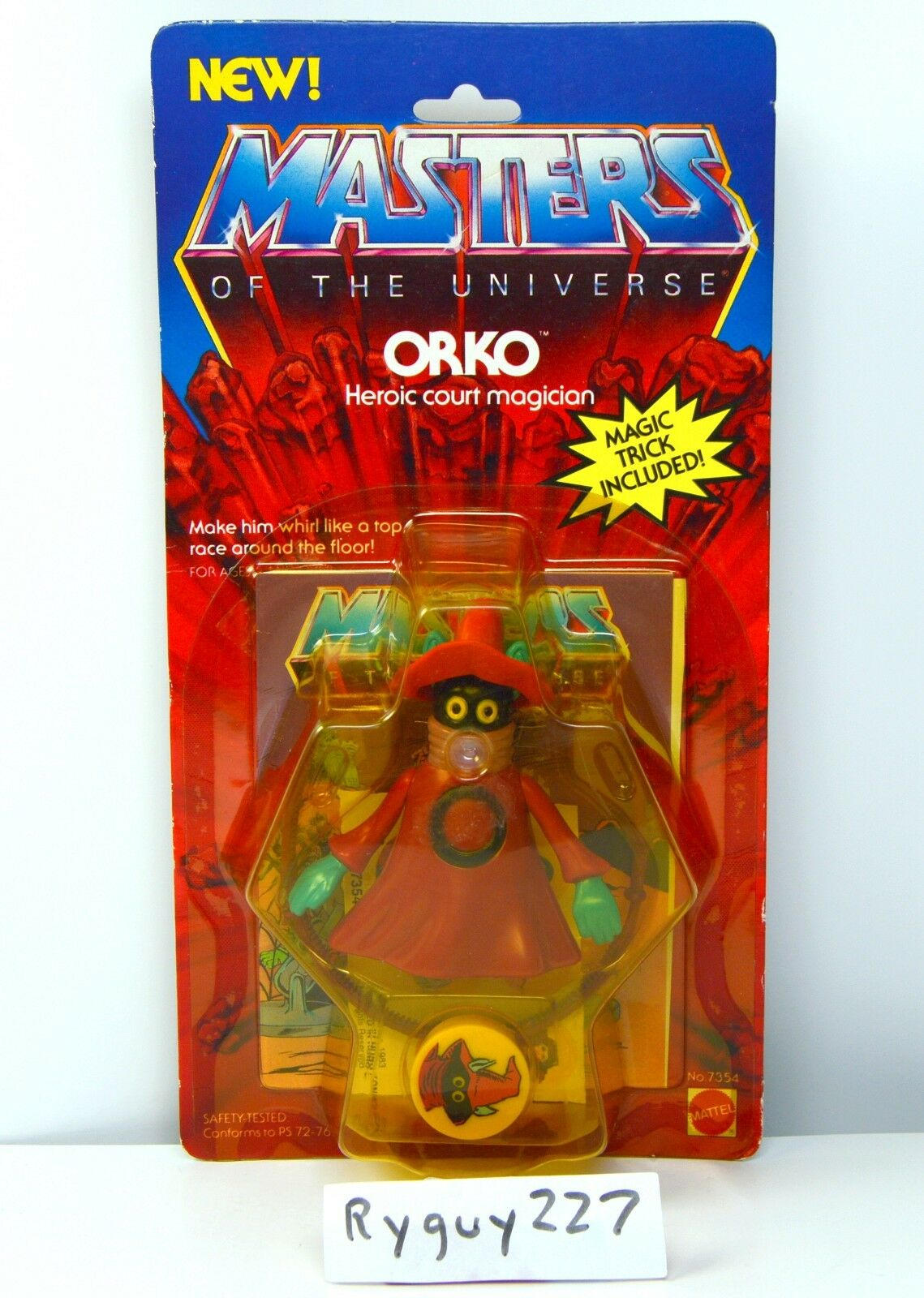 MOTU, Orko, Masters Masters Masters of the Universe, MOC, carded, figure, He Man, sealed, MOSC 1254b8