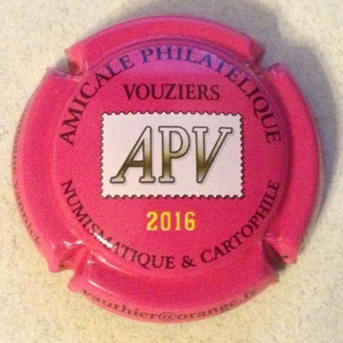 Capsule de champagne VAUTHIER Yannick ami 2a. fuchsia 2016 de vouzier philat