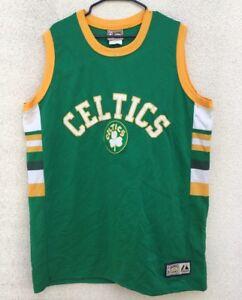 Vintage Boston Celtics Hardwood Classics Jersey Embroidered Yellow