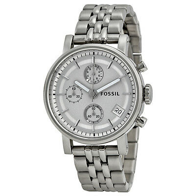 Fossil Chronograph Stainless Steel Unisex Watch ES2198