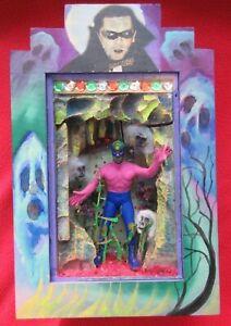 Mexican-Folk-Art-Funky-Luchadore-Blue-Demon-Versus-Dracula-amp-Ghosts-Shrine