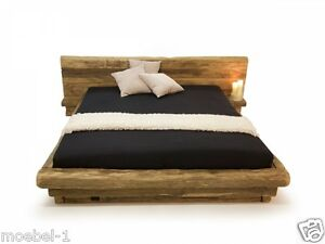 massivholzbett doppelbett holzbett futonbett wikinger bett holz eiche 180x200 cm ebay. Black Bedroom Furniture Sets. Home Design Ideas