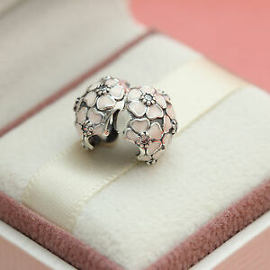 0d1c2e2e5 Image is loading Authentic-Pandora-Sterling-Silver-Pink-Cherry-Blossom -Clear-