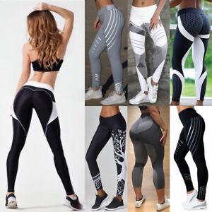 446d2e4d623be Details zu Damen WORK OUT Leggings Leggins Pants Sport Fitness Yoga Jogging  Tights Hose DE