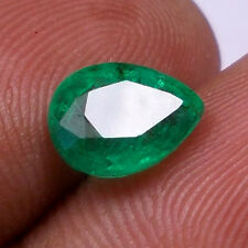 1.41CT NATURAL EMERALD PEAR SHAPE TOP GREEN UNHEATED UNTREATED GEMSTONE