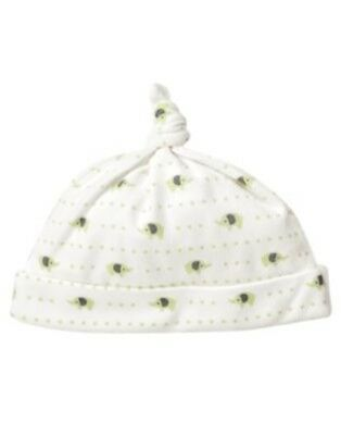 GYMBOREE BRAND NEW BABY IVORY SWEET PEAS BEANIE HAT Preemies  0 3 6 12 NWT