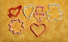 "Valentines Mini,Cookie Cutter Set, Tiny,1.5"",OTBP,6 Pc. Coated metal,Multi-Color"