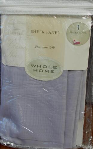"""ONE 59/"""" x 63/"""" PLATINUM VOILE PANEL Lilac Whole Home Sheer Panel BRAND NEW"""
