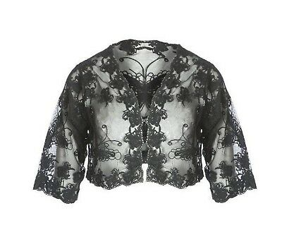 One Size Imported From Abroad Jayley Vintage Lace Bolero Jacket Brand New With Tags Black