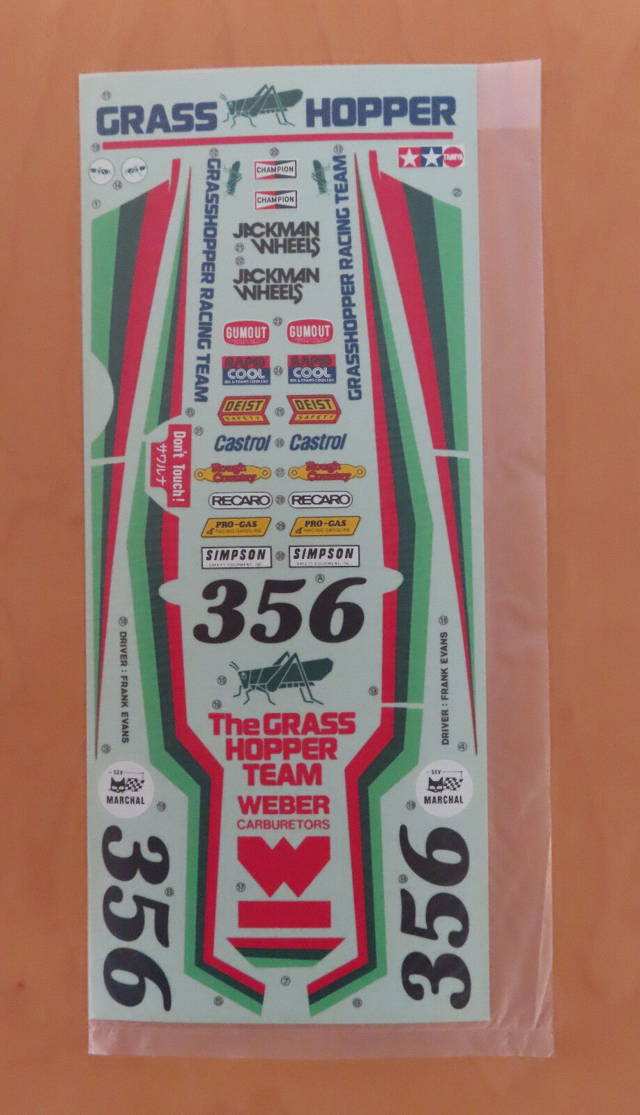 RC Tamiya Decal The Grasshopper 58043 1984 NEU NIB